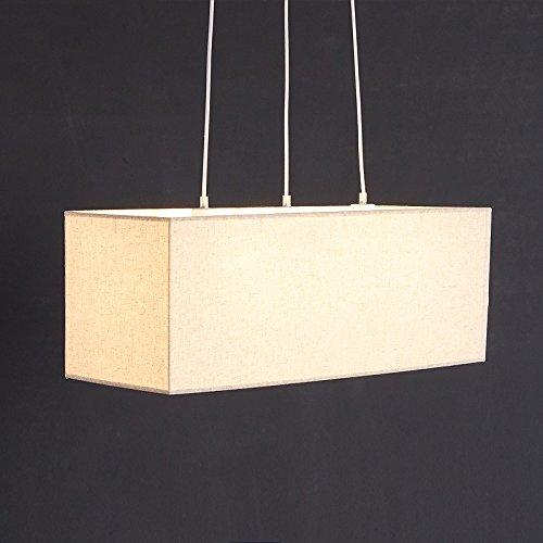 HHCH Lampada a sospensione Semplice moderna Soggiorno Camera da letto in tessuto Lampadario creativo lino rettangolare Chandelier lampadario