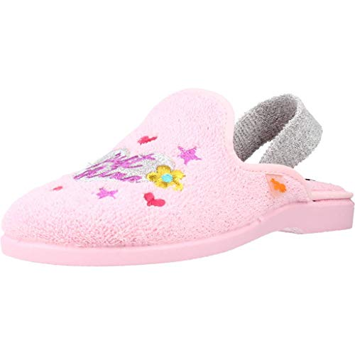 Zapatillas IR por CASA VULLADI Toalla 4104 de la Talla 25 en Color Rosa