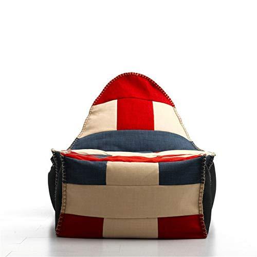 NgMik Faule Sofa-Stühle Sofa Couch Füller Bohnenbeutel Große Bagsack Stuhl Erwachsene Liege Sack Home Wasserdicht Sofa-Sack (Color : Color Matching 2, Size : One Size)