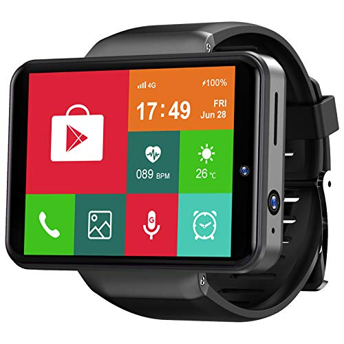 TICWRIS Andriod Smart Watch, GPS Android Smartwatch, 4G LTE with 2.86' Touch Screen, Face Unclok Phone Watch with 2880mAh Battery, IP67 Waterproof Sport Watch,3GB+32GB Andriod Watch for Men (MAX S)