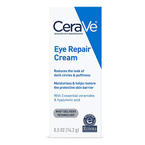 CeraVe Eye Repair Cream | 0.5 oz | Eye Cream for Dark Circles & Puffiness | Packaging May Vary