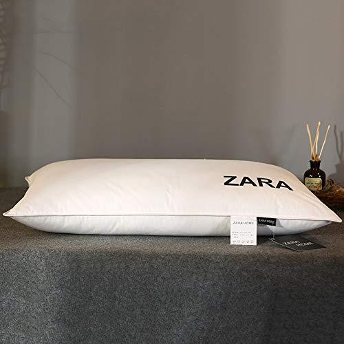 xurupeng Ropa de cama, núcleo de almohada de pluma blanca, almohada de algodón, almohada de pluma de pan