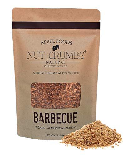 Appel Foods - Nut Crumbs - Bread Crumb Alternative - Gluten Free - Sugar Free - Low Carb - Low Sodium - Raw, Premium Nuts - New Flavors (Barbecue)
