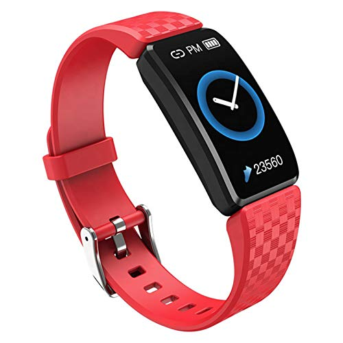 LTLJX Pulsera Actividad, Smartwatches con Pulsómetro, Reloj Inteligente para Deporte, Podómetro, Impermeable IP67 Pulsera Deporte para Android y iOS Teléfono móvil para Hombres Mujeres Niños,Rojo