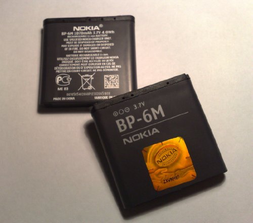 Akku BP-6M Li-Polymer Akku 1100 mAh passend für Nokia 6234, Batterie, Standardakku, Handyakku, Accu, Ersatzakku