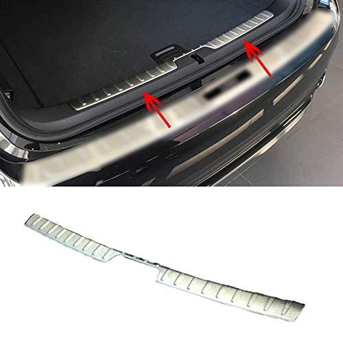 ZLYCZW Protector de Parachoques Trasero de Acero Inoxidable, Cubierta de Placa de umbral de protección contra arañazos de Maletero de Coche, Accesorios de Estilo, Apto para BMW X1 2016