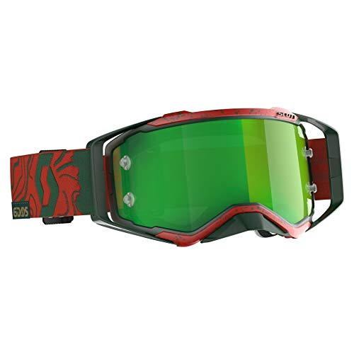 SCOTT Sports Prospect 6 Days Portugal Special Edition MX Goggles One Size Red Green ~ Green Chrome Works