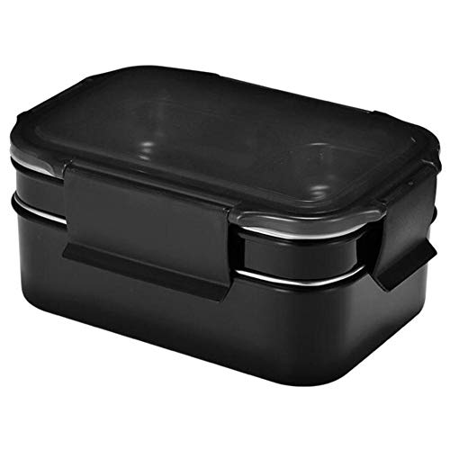 precauti Stainless Steel Double Lunch Box Water Injection Layered Portable Student Company Canteen Fast Food Box