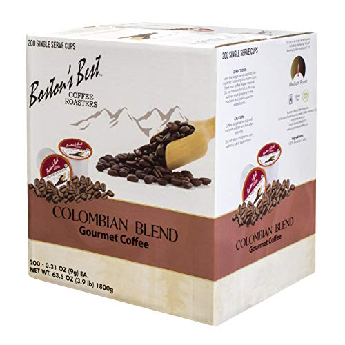 Boston's Best Coffee Roasters - Colombian Blend - Medium Roast 100% Arabica Coffee - 200 Single Serve Keurig-Compatible K-Cup Pods