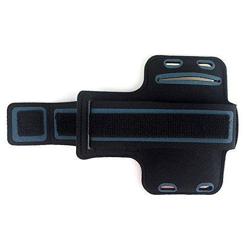 DFVmobile - Berufsausrüstung Armbandtasche Sport Armband Wasserabweisende aus Neopren Premium für Oxygen 63 (2019) - Schwarz