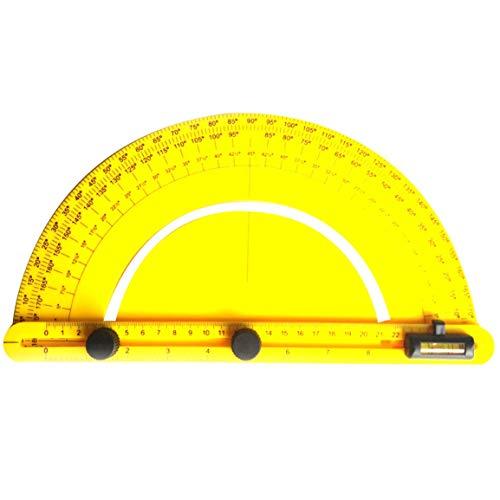 Multi Winkel Lineal Finder Kunststoff 180 Grad Winkelmesser Für Baumeister Zimmermann Handwerker Und Ingenieur Große Größe (Farbe: Gelb)