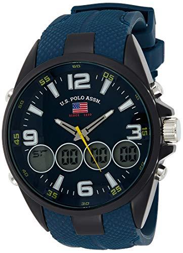 U.S.POLO ASSN. Reloj para Hombre de Cuarzo con Correa en Caucho US9598