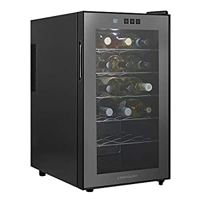 Cookology CW18BK 18 bottle Thermoelectric Wine Cooler, Less Noise & No Vibration