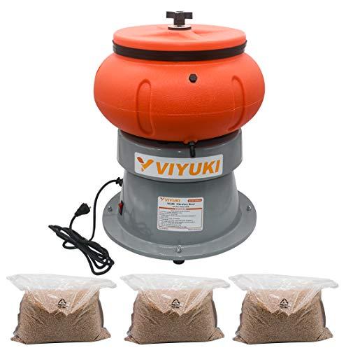 VIYUKI Rock Tumbler 18 Lbs Vibratory Tumbler Bowl for Polishing Metal