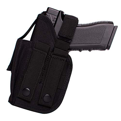 POYOLEE OWB Gun Holster Universal Holster for Pistols with Underbarrel Laser Flashlight Mounted on Gun Fits Glock 17/19/26 S&W M&P 9mm Sig Sauer P320 P365 Springfield XDM XDS and More (Right)