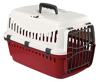 KERBL - 81348 - Cage de Transport Expédition pour petits Chiens et Chats - 45 X 30 X 30 cm - Crème/Bordeaux