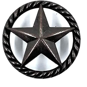 Western Drawer Pulls Black Metal Texas Star Cabinet Pull Rope Edge Home Office