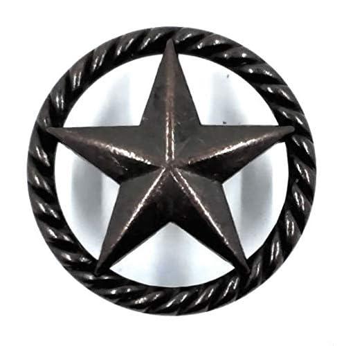 10 TEXAS STAR DRAWER PULLS W// SCREWS KITCHEN CUPBOARDS BATHROOM RUSTIC WESTERN