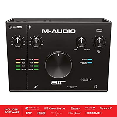 M-Audio AIR 192|4 - 2-In 2-Out USB Audio Interface with Recording Software from ProTools & Ableton Live, Plus Studio-Grade FX & Virtual Instruments from inMusic Brands Inc