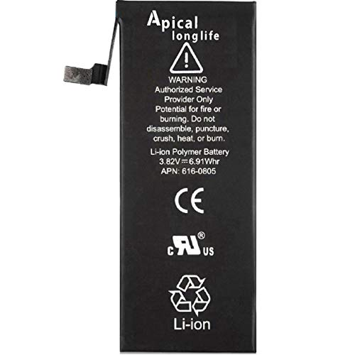 Apical Longlife Replacement Battery Compatible with iPhone 6 - New 1810mAh 0 Cycle Battery - 3 Years Warranty