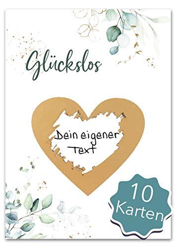 JoliCoon - 10 Rubbellose selber machen - Personalisierte Geschenke oder Gutschein Karte Geburtstag