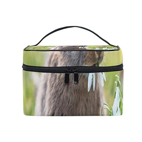 Trousse de maquillage Hopping Bunnies Cute Cosmetic Bag Portable Large Toiletry Bag for Women/Girls Travel