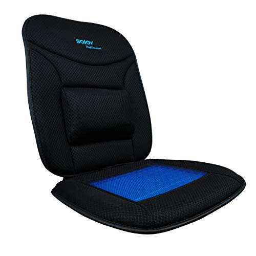 Sojoy iGelComfort Coccyx Orthopedic Lumbar Support Breathable Gel Luxury Support Non-Slip Seat Cushion (Black) (39x20x4)