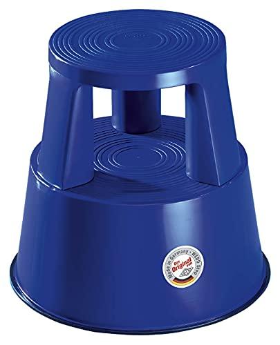 Wedo 212203 Rollhocker Step aus Kunststoff, Höhe 43 cm, Tragkraft 150 kg, blau