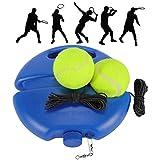 Fostoy Allenatore di Tennis Palline di Rimbalzo con Corda Strumento per Allenamento Allenamento Sport Base per Donna Uomo Bambino Giocatore Principiante Blu
