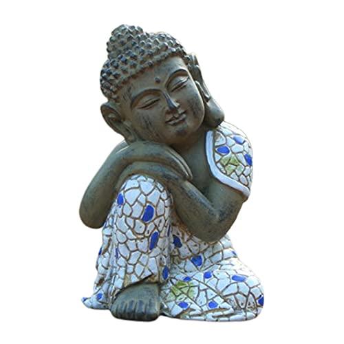 MagiDeal Ornamenti da Giardino Resina Arte-Decorazione Statua di Buddha Fengshui Giardino all'aperto Artigianato Statuetta in Resina Decorazione Southest Yard - Dormire
