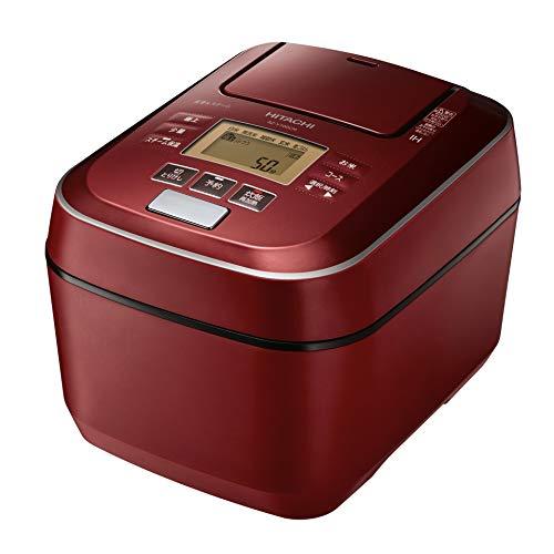 日立 炊飯器 5.5合 圧力&スチームIH ふっくら御膳 本体日本製 大火力 沸騰鉄釜 蒸気カット RZ-V100CM R メタリックレッド