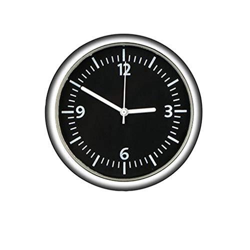 Yihaifu Automotriz Stick-On Digital Reloj de Metal Reloj del Coche Ornents Interior de Palo en el Reloj Decoraciones Interiores Tipo Regular