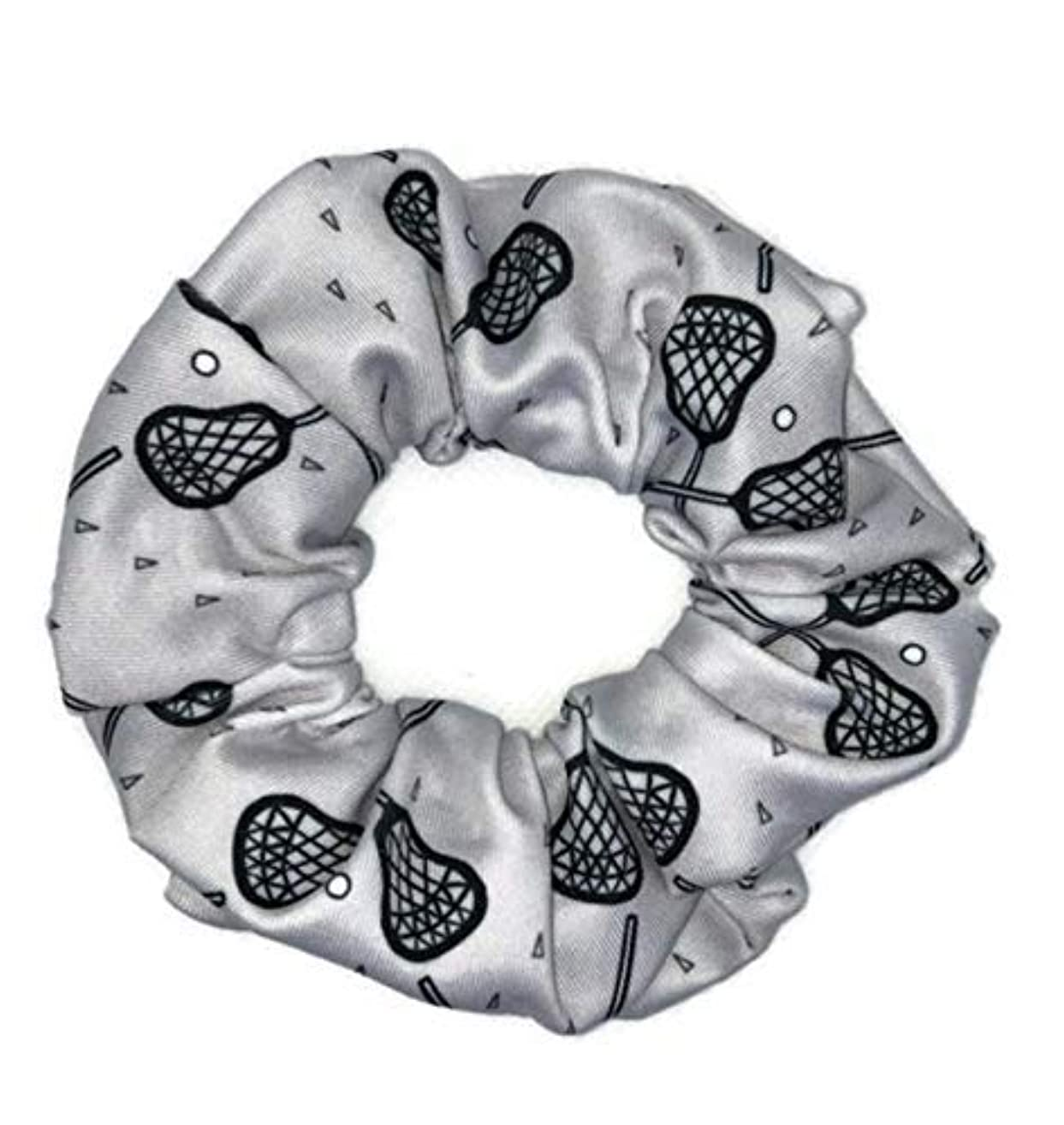 Lacrosse Gifts for Teen Girls Scrunchies Spandex Lycra Hair Ties Bands for Women Nonslip No Crease