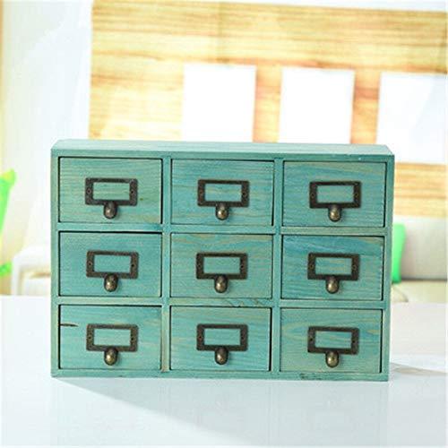 NBLYW 9 lades opslag organizer dressoir, verticale houten borst opbergkast, voor kast om op te slaan, cosmetische en alle soorten accessoires 38.5 * 26 * 10 CM