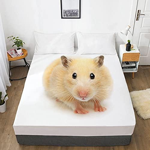 LXTOPN - Sábana bajera con fundas de almohada, 100 % microfibra, diseño de animal, 30 cm, resistente a las arrugas (11,180 x 200 cm)