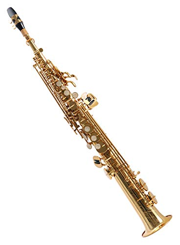 Classic Cantabile Winds SS-450 Sopransaxophon (Messing, klarlackiert, Hoch-Fis-Klappen, ergonomische Klappenmechanik)