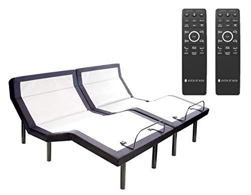 Sven & Son Split King Adjustable Bed Base Frame (Head Tilt) 5 Minute Assembly,...