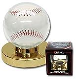 Baseball Holder Display Case with Gold Base - 6 Pack