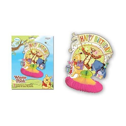 Centro de mesa de papel con diseño de Winnie The Pooh