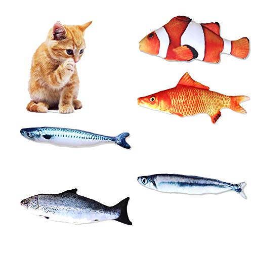 IWILCS 5 Piezas Catnip Fish Toys para Gato