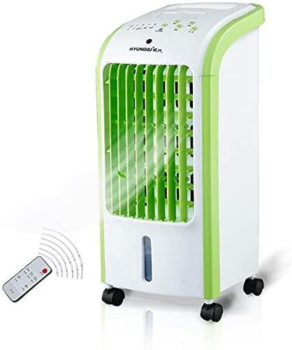 ZJDM Ventiladores de Pedestal Humidificador de Ventilador de enfriamiento de Aire evaporativo portátil con Control Remoto de 3 velocidades, para Interior de Oficina en casa 70 W de bajo Ruido (Co