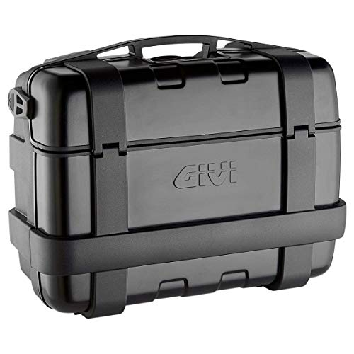 Givi TRK33B Trekker 33-Monokey Baúl con Cover Aluminio, Color Negro, Carga Máxima 10 Kg