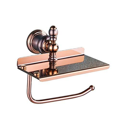 ZHENYANG Cobre Rose Brown Bronce Papel móvil Oro Toalla Rack Hardware Retro Pendiente