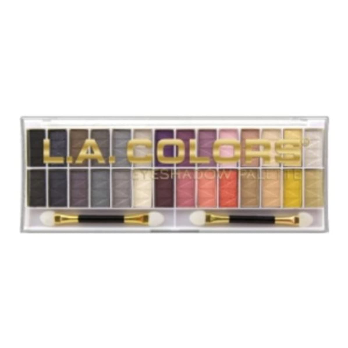 ゴシップきしむ懐(3 Pack) L.A. COLORS 28 Color Eyeshadow Palette - Malibu (並行輸入品)