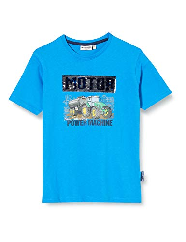 Salt & Pepper Jungen 03112166 T-Shirt, Blau (Regatta Blue 469), (Herstellergröße: 104/110)