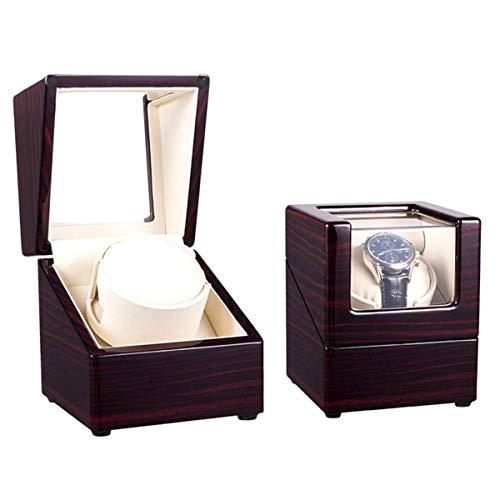 BJH Automatische Uhrenbewegungsbox mit einem Kopf für 1 Uhr, Slient-Motor und 5 Rotationsmodi, Mini-Uhren-Aufbewahrungsbox Leiser Motor Netzteil und batteriebetrieben (Farbe: Palisande