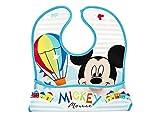 Disney Mickeysimply - Babero de PEVA con bolsillo