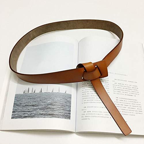 Amplia Correa De Las Señoras De La Cintura Capa De La Camisa De La Decoración con La Falda Suéter Cinturón De Cuero Negro con Sencillo Y Versátil LYMY (Color : Camel)