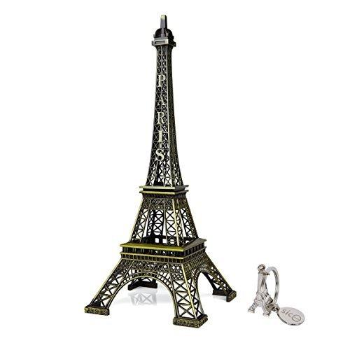 SICOHOME The Eiffel Tower,12inch,Bronze,Tall Vintage Paris France Eiffel Tower Centerpiece