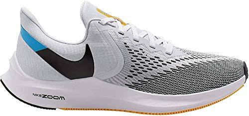 Nike Zoom Winflo 6, Zapatillas para Correr de Carretera Hombre, Pure Platinum-Oran, 48 EU